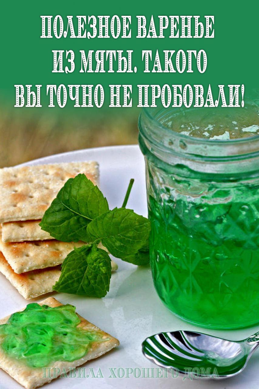 Рецепт варенья из мяты