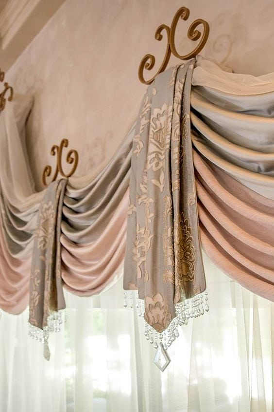 Стильные идеи оформления шторы и тюля