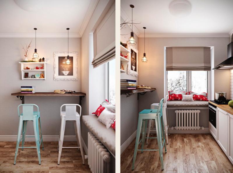 Кухня 6 кв. м: оригинальные дизайнерские решения