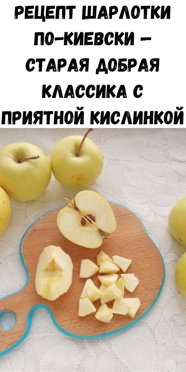 Рецепт шарлотки по-киевски — старая добрая классика с приятной кислинкой