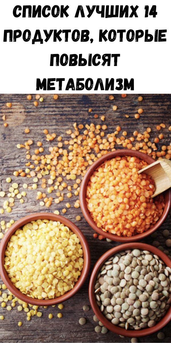 Список лучших 14 продуктов, которые повысят метаболизм