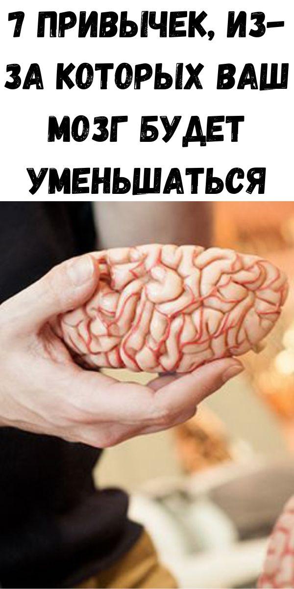 7 привычек, из-за которых ваш мозг будет уменьшаться