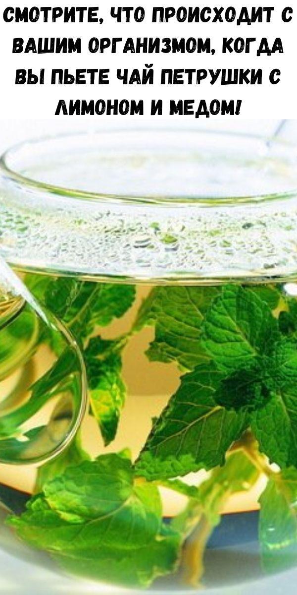 Смотрите, что происходит с вашим организмом, когда вы пьете чай петрушки с лимоном и медом!