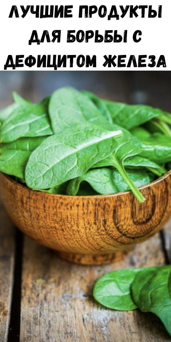Лучшие продукты для борьбы с дефицитом железа