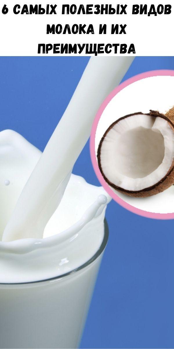 6 самых полезных видов молока и их преимущества