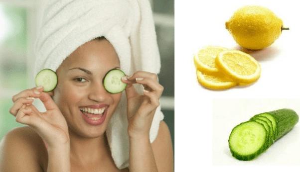 Огуречно-лимонная маска для темных кругов